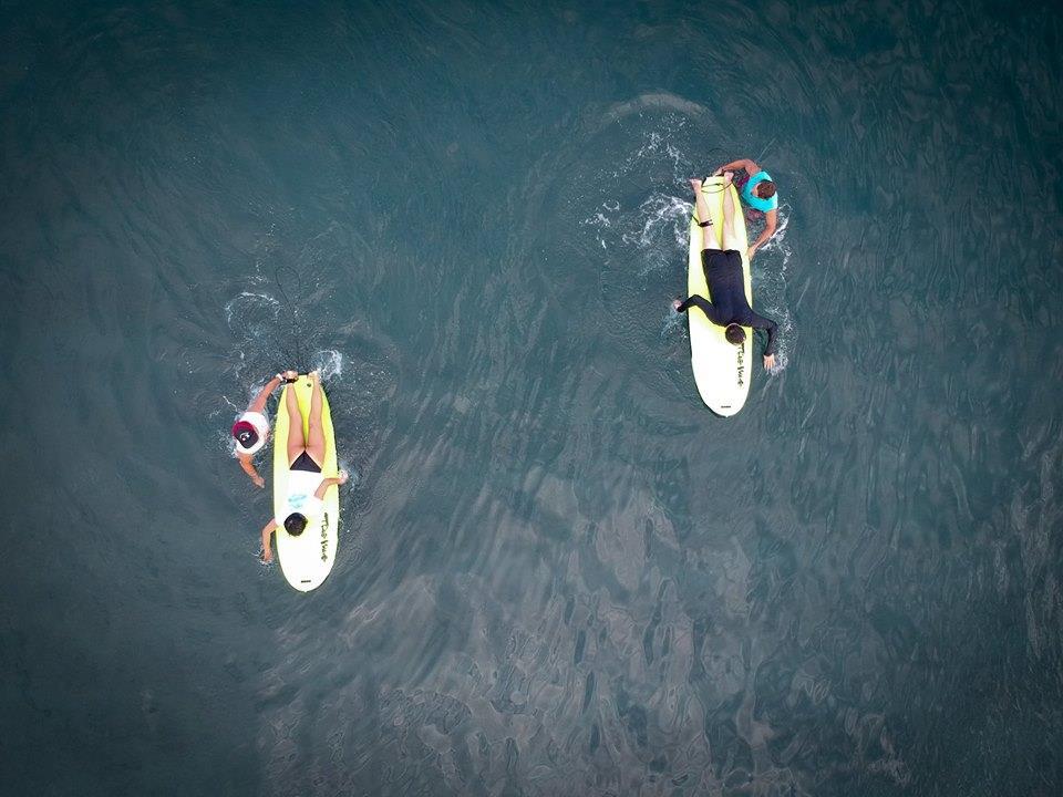 surf-lesson-drone